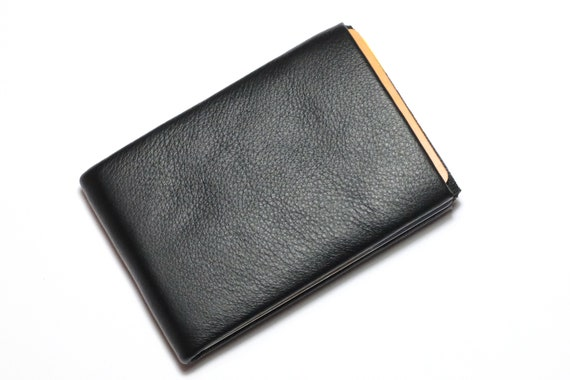 Minimalist Wallet, Mens Wallet, Womens Wallet, Leather Wallet, RFID Wallet, Limited Edition NERO Wallet RFID Blocking