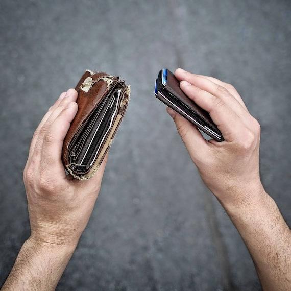 Best men gift, Mens Wallet, Minimalist Wallet, Womens Wallet, Leather Wallet, RFID Wallet - Original Nero Wallet