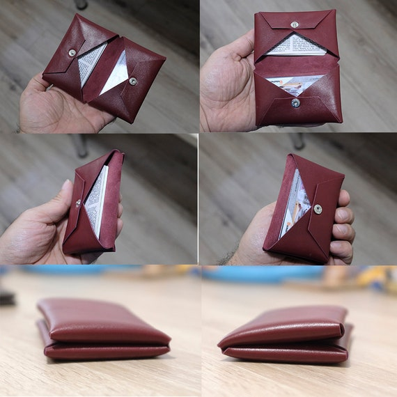 Minimalist Bifold Wallet, Personalized Leather Wallet,Ultra Slim Wallet for Womens, Ultra Soft Goat Leather Wallet, Minimalist Wallet