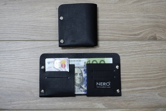 Bifold Wallet, Mens Wallet, Minimalist Wallet, Womens Wallet, Leather Wallet, RFID Wallet - RFID Blocking