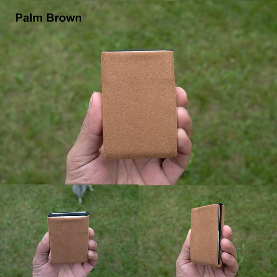 Alcantara® Minimalist Wallet, Personalized Wallet, Vegan Credit Card Wallet, Mens Wallet - RFID Blocking Wallet - Limited Edition