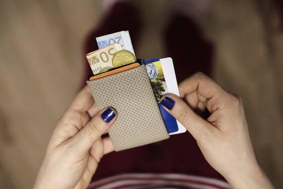 Minimalist Wallet, Mens Wallet, Womens Wallet, Leather Wallet, RFID Wallet, Limited Edition NERO Wallet RFID Blocking