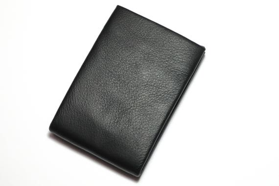 Best Minimalist Wallet, Leather Wallet, RFID Wallet - Original NERO Wallet - Black