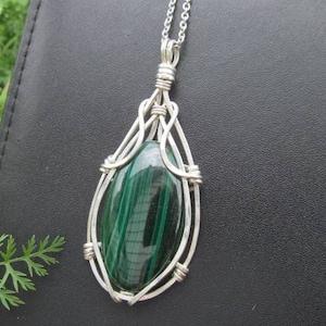 gold wire wrap bail 70ct light dark dark green light green Malachite pendant Cloisonne Bead