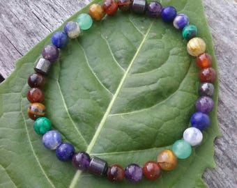 Chakra Balancing Bracelet~ Chakra Bracelet ~*Healing Crystals~ Healing Stones*~ *Chakra Jewelry*~