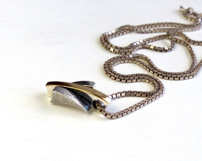 Danish Jens Johannes Aagaard sterling silver Modernist Solid Bar Necklace textured minimalist Necklace vintage Denmark Scandinavian jewelry