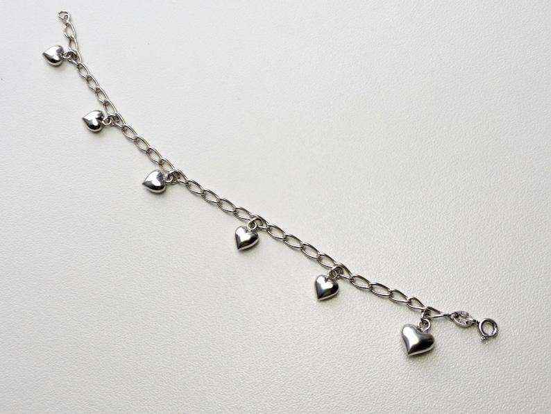 Aagaard Danish sterling Silver Hearts Bracelet small size chain Bracelet JAa Denmark Scandinavian jewelry Kids Heart charm Bracelet Jens J