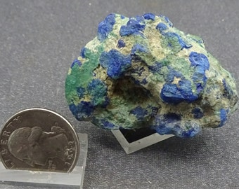 Linarite with Brochantite, Arizona  - Mineral Specimen for Sale