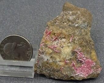 Cinnabar crystals, Calver Baer Mine, California- Mineral Specimen for Sale