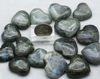 ONE Polished Labradorite Heart - Mineral Specimens/Gemstones for Sale