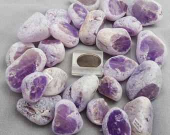Amethyst Ema Eggs, Dreamer's Stone, Seer Stone, Window Quartz, Brazil