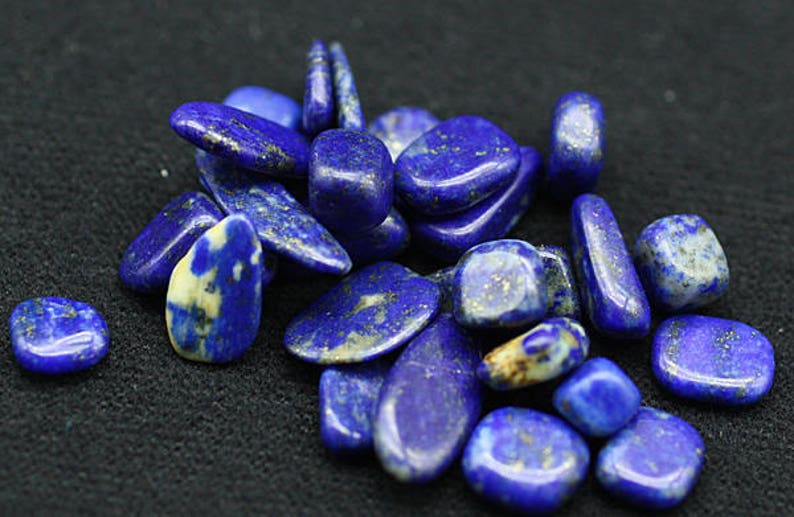 ONE Bag of Lapis Lazuli polished nuggets  Mineral image 0