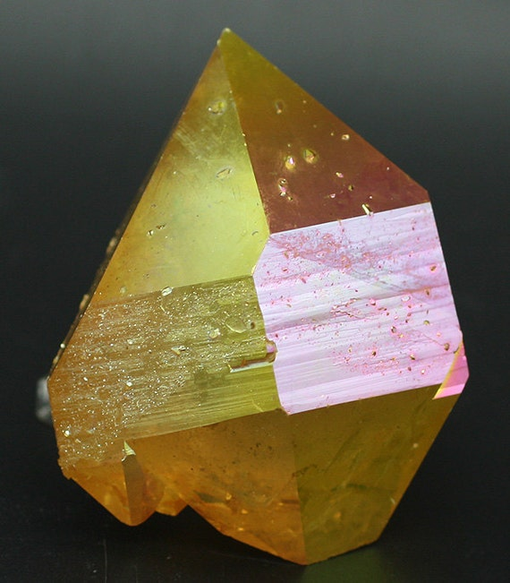 Dusk Quartz: Sunset Aura Quartz Crystal For Sale