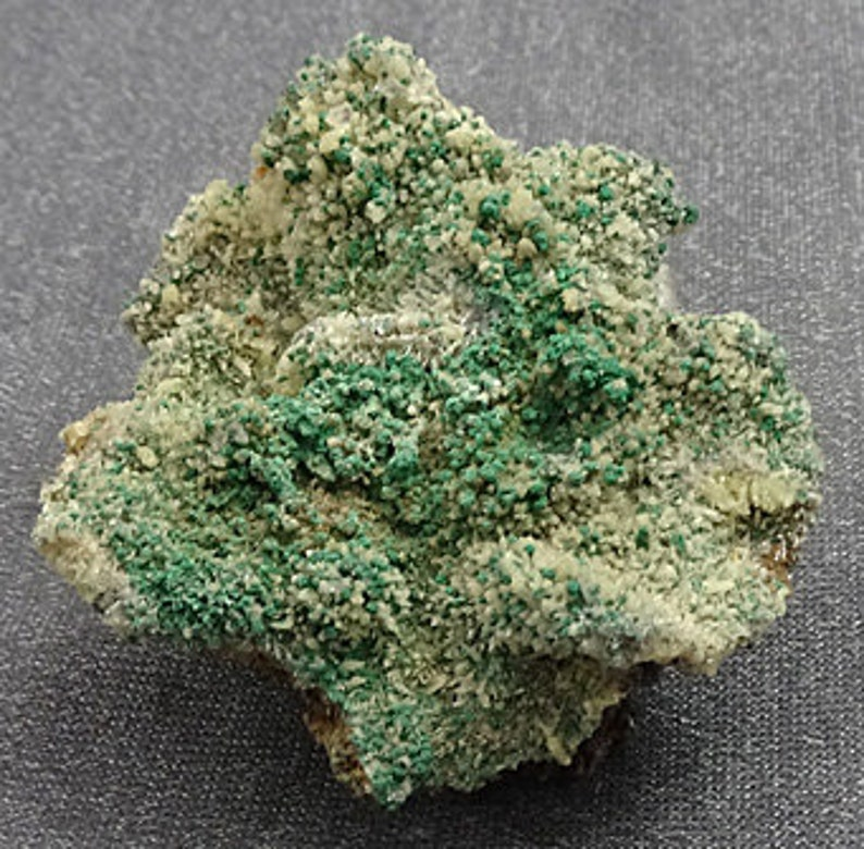 Malachite on Cerussite crystals Tsumeb Mine Namibia  image 0
