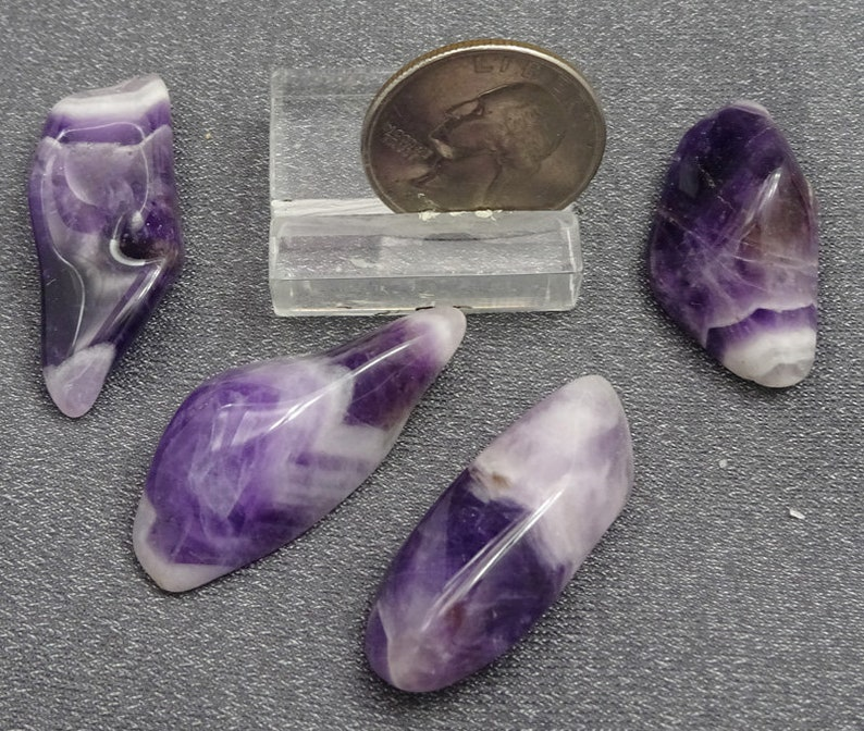 Polished Chevron Amethyst tumbles  Mineral Specimens for Sale image 0