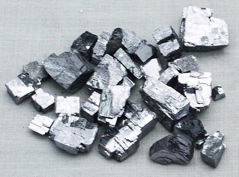 ONE Bag of Silvery Galena crystals Missouri   Mineral for image 0