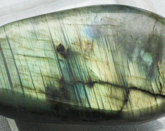 Polished Labradorite Palm Stone, Madagascar - Mineral Specimen for sale