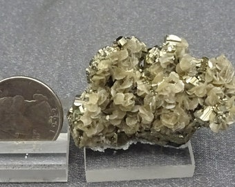 Siderite Crystals on Pyrite, Colorado, Mineral Specimen for Sale