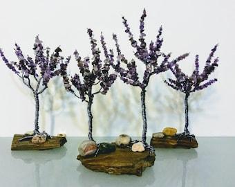Groß Drahtbaum Edelstein-Dekoration Baum des Lebens