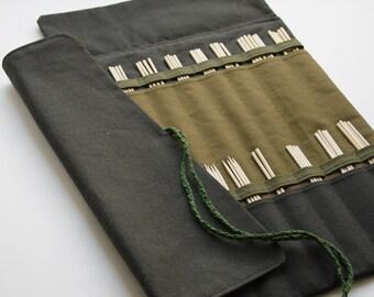 Big Knitting Needle Case, Needle case, Purse, Large Needle Case for Straight Needles, Needle Organizer, Knitting storage