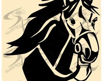 Vector Horse Animalsvgdxfai Png Eps Jpgdownload Files Etsy