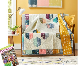 Quilt Sampler Magazine Spring/Summer 2017 Issue - Needle In a Fabric Stash is a Featured Shop!