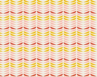 Blush - Retro Petals Powder - Dana Willard - Art Gallery Fabrics - Fabric By the Half Yard
