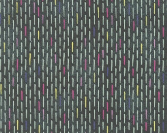 Dashed Line Fabric - Saturday Morning by BasicGrey for Moda Fabrics - To Do in Oxley - Fabric by the Half Yard