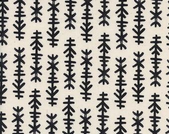 Black and White 2017 - Chimes Natural - Cotton and Steel Fabrics - Rashida Coleman-Hale - Fabric by the Half Yard
