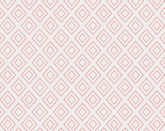 Pink Geometric - Art Gallery Fabrics - Charleston - Stepping Stone Quartz - Amy Sinibaldi - Fabric By the Half Yard