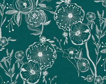 Line Drawings Floralia - Floralia Fusion- AGF Studio - Art Gallery Fabrics - Fabric By the Half Yard