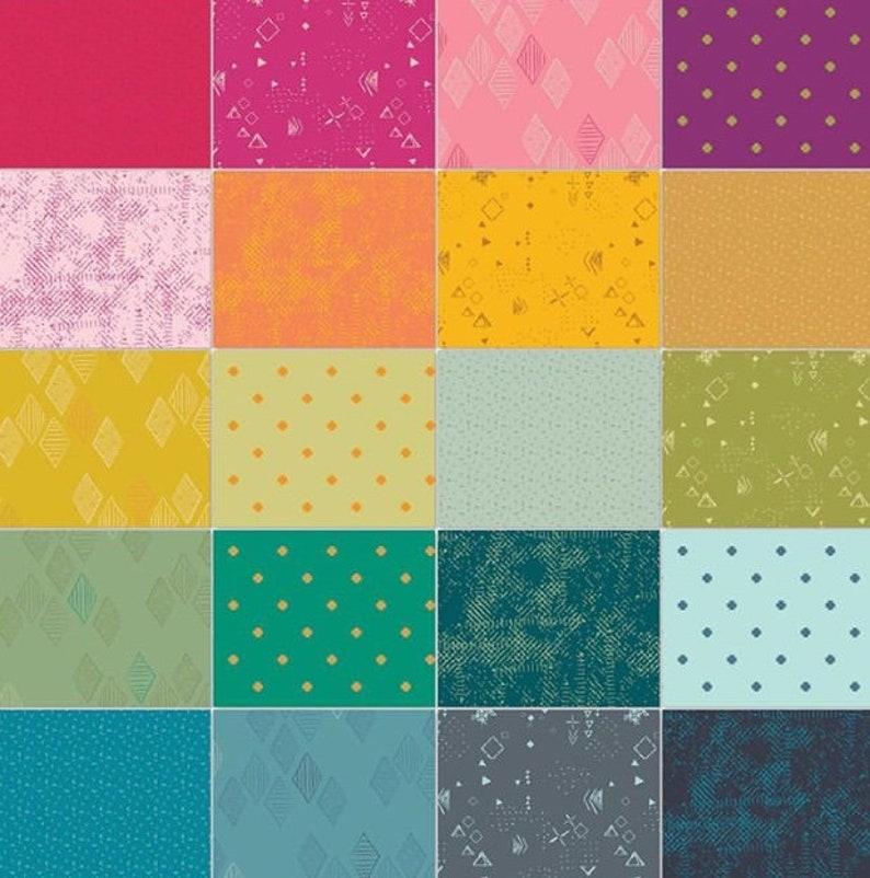 Art Gallery Fabrics Pat Bravo Matchmade Fabric Collection Indication Foliage Fabric by the half Yard