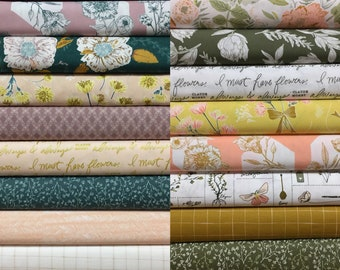 Gathered Full Collection Fabric Bundle - Bonnie Christine - Art Gallery Fabrics - 20 Fat Quarters or 20 Half Yards
