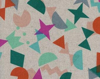 Cotton/Linen CANVAS - Shape Up Gem - Paper Cuts - Rashida Coleman-Hale - Cotton and Steel Fabrics - Fabric by Half Yard