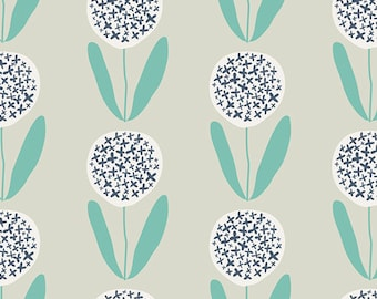 CANVAS - Modern Flower Print - Curiosities by Jeni Baker for Art Gallery - Candied Lollies - Canvas Fabric By Half Yard