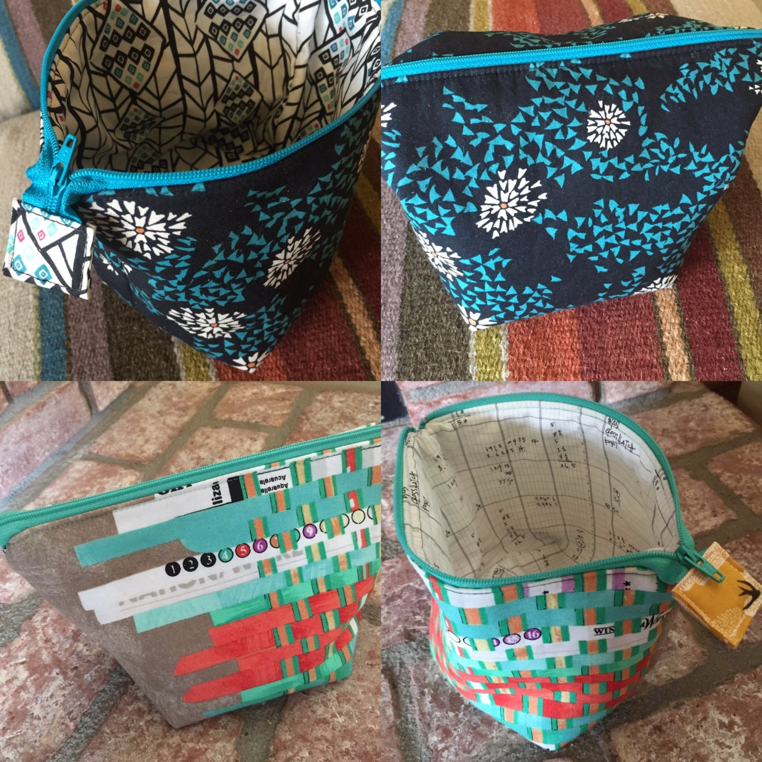Fat Quarter Friendly Zipper Pouches Pattern by Needle in a
