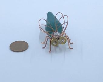 Magnet - Antique 1940's Green Christmas Bulb Magnet - Fridge magnet - gift - handmade - office supplies