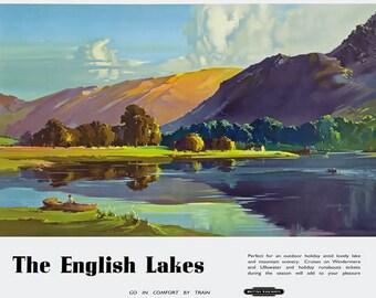 Vintage Lake District Furness Railway Poster Print A3//A4