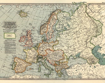 Europe Poster Etsy