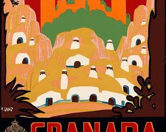 Tw29 Vintage España San Sebastian Español viajar Cartel volver a imprimir A2//a3
