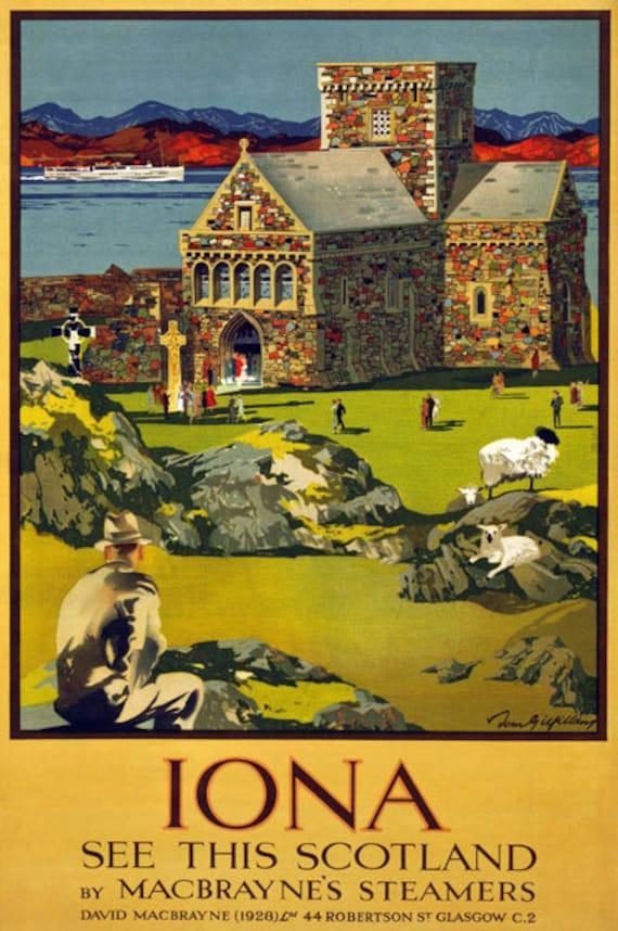 Vintage Style Railway Poster Glasgow A4//A3//A2 Print