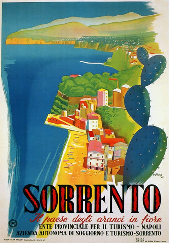 TW12 Vintage 1927 Taormina Sicily Italian Italy Travel Poster A1//A2//A3//A4