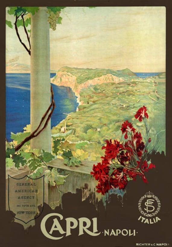 TW12 Vintage 1927 Taormina Sicily Italian Italy Travel Poster A1//A2//A3//A4