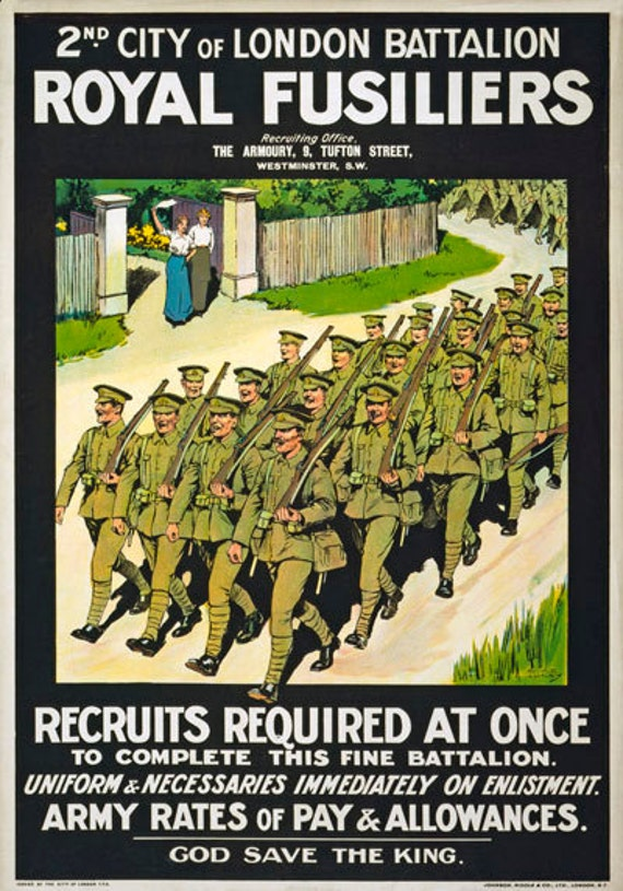 Vintage Irish Guards Recruitment  Poster A3//A2 Print