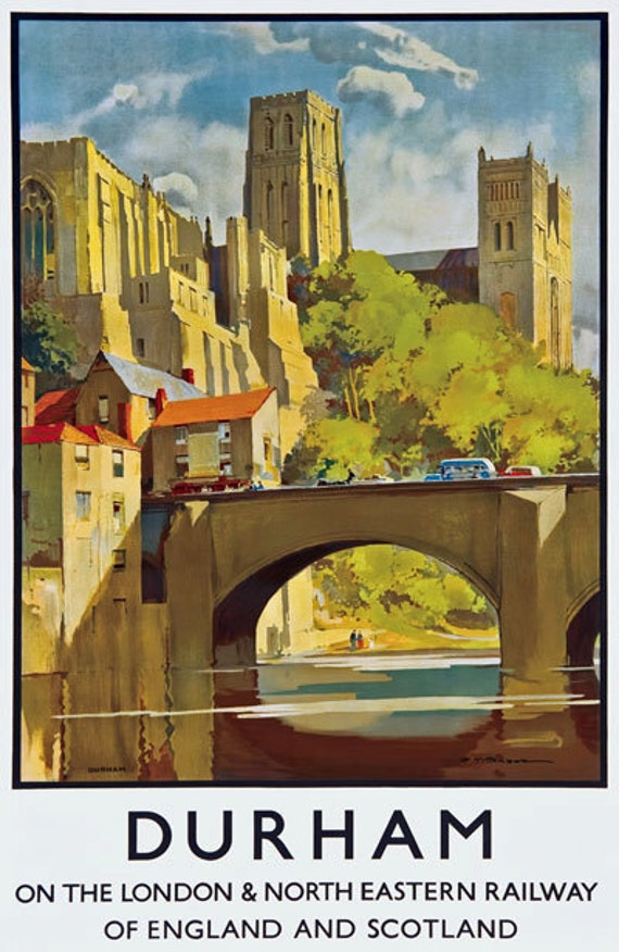 Tt39 Vintage Harrogate Yorkshire lner viajar en tren cartel impresión A3 A2
