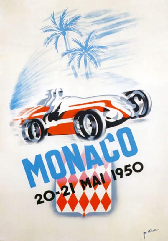VINTAGE PORSCHE 1952 MOTOR RACING A3 POSTER PRINT