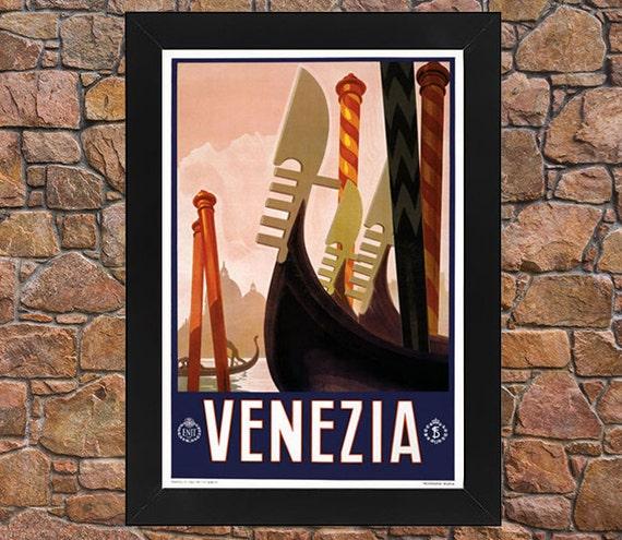 TA26 Vintage 1920/'s Lake Garda Italian Italy Travel Framed Poster Print A3//A4