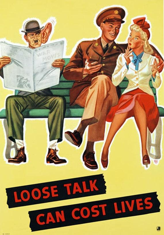 World War Two Italian Anti Allies Poster A3//A4 Print