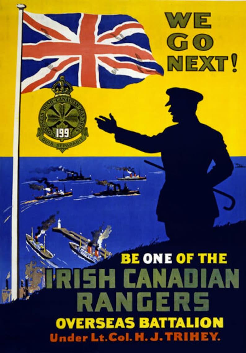 Irishmen avenge the Luisitania Vintage Enlistment poster reproduction.
