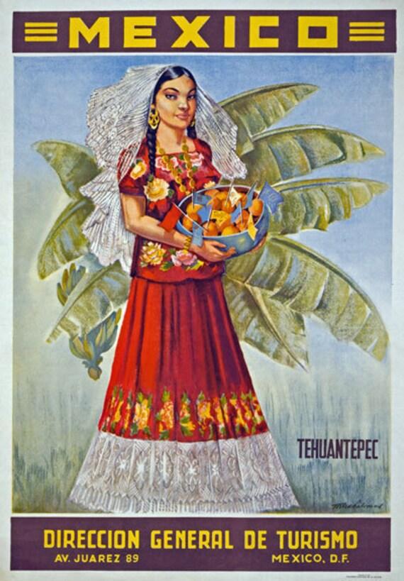 Tt41 Vintage 1940 Oaxaca México Mexicano Cartel viaje volver a imprimir A1 A2 A3